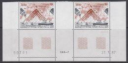 TAAF 1987 Inmarsat 1v (pair, Corner, Printing Date)  ** Mnh (TA209A) - Ongebruikt