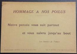 Carte De Franchise Militaire CARTE AUX SOLDATS HOMMAGE A NOS POILUS - Marcophilie (Lettres)