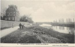 D77 - TRILBARDOU - LE BORD DE LA MARNE - Enfants Sur Le Chemin - Andere Gemeenten