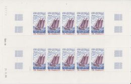 TAAF 1987 J.B. Charcot / Sailing Ship 1v  Sheetlet (unfolded) ** Mnh (TA210) - Ongebruikt
