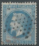 Lot N°47207  N°29B, Oblit étoile Muette De PARIS, Amorce De Cachet ROUGE - 1863-1870 Napoleon III With Laurels
