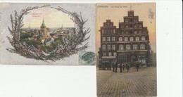 2 CPA   ALLEMAGNE LUNEBURG TOTALANSICHT + ALTE HAUSER AM SANDE - Lüneburg