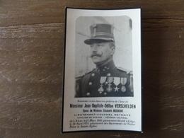 Doodsprentje, Luitenant Generaal Jean-Baptiste Verschelden, Geboren Te Aalst 1866, Overleden Te Luik 1931 - Images Religieuses