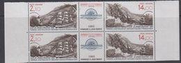 TAAF 1986 Jean Charcot Strip 2v + Label (in Pair)  ** Mnh (TA211A) - Ongebruikt