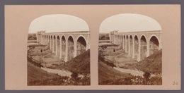Stereoscopische Kaart :IRELAND.  The Boyne Viaduct. On The Dublin And Belfast Railway - Stereoscope Cards