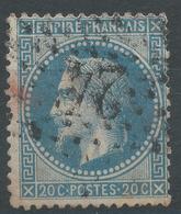 Lot N°47212  N°29B, Oblit étoile Chiffrée 24 De PARIS (R. De Cléry) - 1863-1870 Napoleon III With Laurels