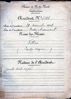C -02 - Dossier Accident Chemin De Fer Du Nord - Nombreux Papiers En Tête 1908 VILLION - PERSAN BEAUMONT - Chemin De Fer