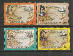 Explorateurs Célèbres (Francis Drake,Fernandes De Quiros,Baez De Torrès,Alvaro De Mendana) Yv.555/58 Neufs ** - Ile Norfolk