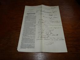Document  Commercial Facture Carrières De Pierres De Taille Bleues E Gilmant Neufvilles Soignies 1906 - 1900 – 1949