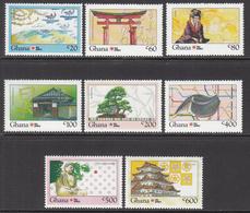 1992 Ghana Philanippon Japan Complete Set Of 8 MNH - Ghana (1957-...)