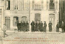 DIJON Inventaire églises 5 Février 1906 Gendarmes Se Chauffent Soleil Place Edgar Quinet Attendent Manifestants En Vain - Dijon