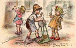 CPA.  Illustrateur Germaine Bouret. Enfants. Repassez La Semaine - Bouret, Germaine