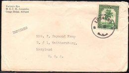 Congo - Palmiers - Lettre En Imprimé Lusambo Vers USA - B9 - 1947-60: Covers