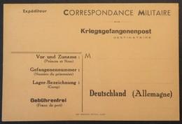 Carte De Franchise Militaire Pour Prisonnier De Guerre En Allemagne éditée à Dijon - Marcophilie (Lettres)