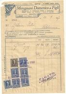 Meregnani Domenico E Figli  FATTURA  GRANTOLA  LUINO  1947--FORMAGGI  SALUMI   UOVA - Italia