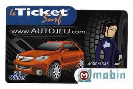 Ticket Surf  Www. Autojeu .com - Frankreich