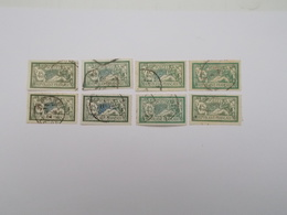 LOT DE 8 TIMBRES 45 C VERT ET BLEU - 1900-27 Merson