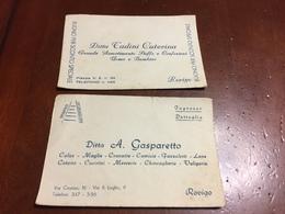 Rovigo 2 Vecchi Biglietti Di Ditte Anni 40 - Rovigo
