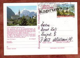 P 493 Burg Grein, Abb: Kaprun, Nach Muehlheim 1989 (71155) - Ganzsachen
