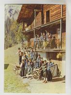 """CPSM LA GIETTAZ (Savoie) - 1120 M Le Groupe Folklorique """"LES ARAVIS"""" - France"""