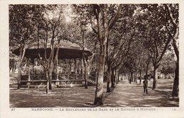 Narbonne - Le Boulevard De La Gare Et Le Kiosque à Musique - Narbonne