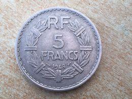 1948 Scacer Date France Francais 5 Franc, Aluminium. - France