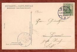 AK Schneelandschaft, EF Germania, Metz Nach Rech Lothringen, KOS-AK-Stempel 1905 (71157) - Covers & Documents