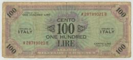 Italia . Allied Military Currency . 2 Billets : 100 +50 Lire . - [ 3] Emissioni Militari
