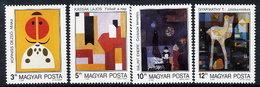 HUNGARY 1990 Contemporary Painting  MNH / **  Michel 4056-59 - Hungary