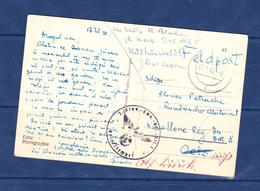 POSTCARD-GERMANAI-ROMANIA-CATRE POSTALA-FELDPOST-1942-EXPEDIATA-DE PE FRONTUL DE LUTA- GERMANIA-CENZURA-SEE-SCAN - Rumänien
