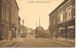 CPA /PK /  AK  -  JUMET  Rue De La Station - Charleroi