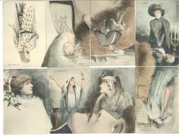 Rare Puzzle Complet De 8  CPA Sz Sarah Bernhard    (16 ASO) - Illustrators & Photographers