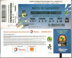 Football. Ticket Coupe D'Afrique Des Nations Au Gabon, Stade De Port-Gentil. 4 Fevrier 2017, Etat Neuf - Gabon (1960-...)