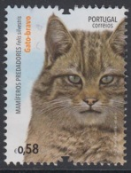 1.2..- PORTUGAL 2016 USED/CANCELED STAMP  MAMMALS CAT - 1910-... República