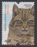 1.4..- PORTUGAL 2016 USED/CANCELED STAMP  MAMMALS CAT - 1910-... República