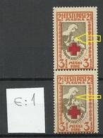Estland Estonia 1922 Michel 29 A E: 1 ERROR Abart MNH/MH - Estland