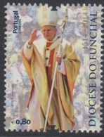 4.1.- PORTUGAL 2014 USED/CANCELED STAMP - FUNCHAL DIOCESE POPE JOHN PAUL II - 1910-... República