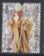 4.2.- PORTUGAL 2014 USED/CANCELED STAMP - FUNCHAL DIOCESE POPE JOHN PAUL II - 1910-... República