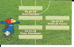 COUPE DU MONDE FOOTBALL FRANCE 98 - WORLD CUP 1998 - FOOTIX MASCOTTE OFFICIELLE - FINALE - Football