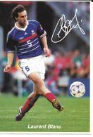 COUPE DU MONDE FOOTBALL FRANCE 98 - WORLD CUP 1998 - LAURENT BLANC CHAMPION - EQUIPE DE FRANCE CHAMPIONNE DU MONDE - Football