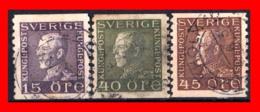 SUECIA .. SVERIGE (EUROPA )  SELLOS DE SERIE  AÑO 1925-1934 KING GUSTAF V - Suecia