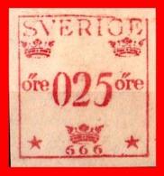 SUECIA .. SVERIGE (EUROPA )  FRANQUEO 0,25 ORE - Oficiales