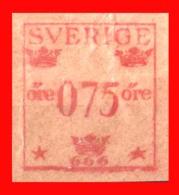 SUECIA .. SVERIGE (EUROPA )  FRANQUEO 0,75 ORE - Oficiales