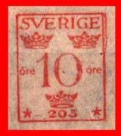 SUECIA .. SVERIGE (EUROPA )  FRANQUEO  10 ORE - Oficiales