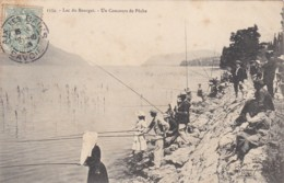 Pêcheurs Concours De Pêche Lac Du BOURGET  1906  (lot Pat 64) - Le Bourget Du Lac