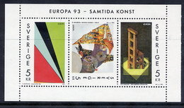 SWEDEN 1993 Contemporary Art MNH / **.  Michel 1778-80 - Unused Stamps