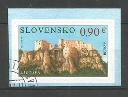 Slovensko / Slowakei  2017 , EUROPA  CEPT  Schlösser Und Burgen - Selbstklebend / Self-adhesive -gestempelt / Used / (o) - 2017
