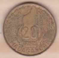 MADAGASCAR /REPUBLIQUE FRANCAISE. 20 FRANCS 1953 - Madagaskar