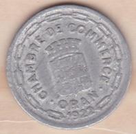Algérie , Chambre De Commerce D'Oran , 25 Centimes 1922 , Aluminium - Algeria