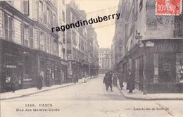 CPA - 75 - PARIS (6ème) - Rue Des Quatre-vents Commerces Divers Dont Parfumerie 1er Plan - 1911 - Arrondissement: 06